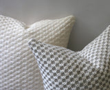 Heirloom Quality Heavy Knit Throw Pillows / Ivory Brown & Grey / Danish Modern Decor - Annabel Bleu