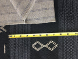 Mudcloth Upholstery Fabric by the yard / Woven Home Fabric / High End Upholstery / Backed Upholstery Cotton / Black Mudcloth Fabric - Annabel Bleu