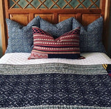 Navy White Herringbone Pillow Cover: Available in 10 Sizes - Annabel Bleu