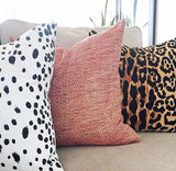 10 Sizes: Les Touches Linen Black & White Dalmatian ZIPPER Pillow Cover 18x18 20x20 24x24 26x26 White Pillow / Modern Dot Pillow Case - Annabel Bleu