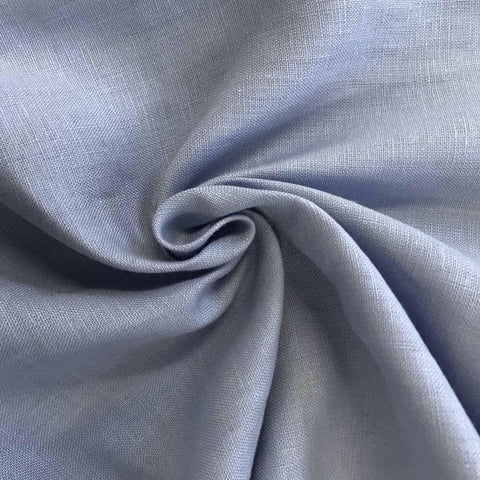 Light Blue fabric by the Yard / Belgian linen upholstery fabric / Linen Home Decor Fabric - Annabel Bleu