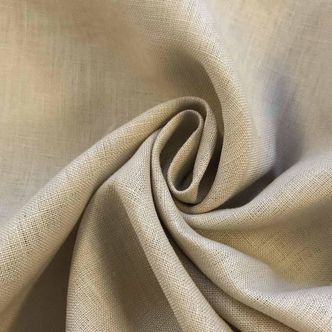 Light Beige Linen fabric by the Yard / Belgian linen upholstery fabric / Linen Home Decor Fabric - Annabel Bleu