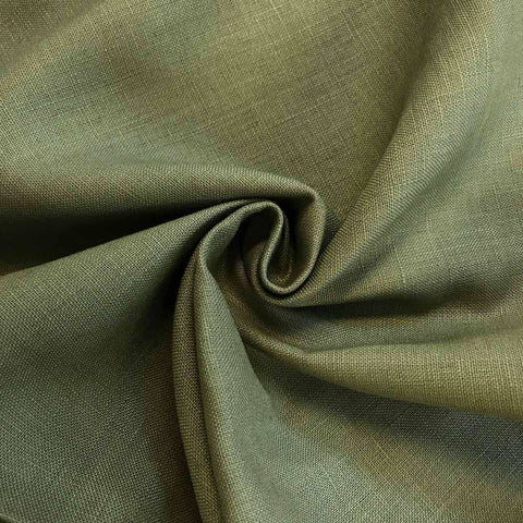 Olive Linen fabric by the Yard / Belgian linen upholstery fabric / Linen Home Decor Fabric - Annabel Bleu