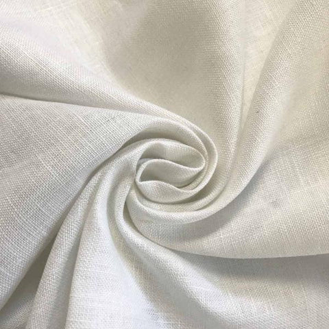 White Linen fabric by the Yard / Belgian linen upholstery fabric / Linen Home Decor Fabric - Annabel Bleu