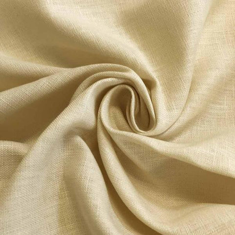 Yellow Linen fabric by the Yard / Belgian linen upholstery fabric / Linen Home Decor Fabric / Light Yellow Home decor fabric - Annabel Bleu