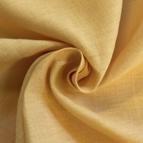 Gold Linen fabric by the Yard / Belgian linen upholstery fabric / Linen Home Decor Fabric / Yellow Home decor fabric - Annabel Bleu