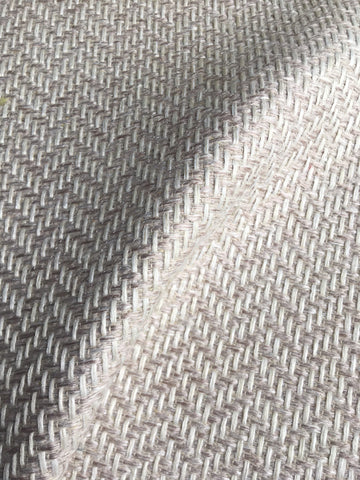 7 yards Blush upholstery fabric / Blush White Grasscloth / Woven Blush Fabric / Heavy weight Upholstery material - Annabel Bleu