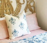 Schumacher Blue and White Pillow cover / Block Print Pillow Cover / Beatrice Bouquet - Annabel Bleu