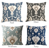 Modern Blue Damask Pillow Cover / Available in 10 Sizes - Annabel Bleu