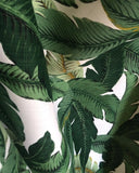 Polyester Dark Green Banana Leaves Beverly Hills Hollywood Regency Fabric by the Yard Indoor/outdoor - Annabel Bleu