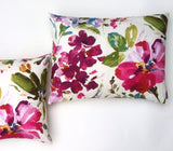 One Solid Fuchsia European Linen Decorative Zipper Pillow Cover Pink Linen Cushion Cover: 10 Sizes Available - Annabel Bleu