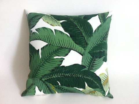 Banana Leaf Outdoor Zipper Pillow Cover - Annabel Bleu