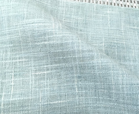 7 yards Watery Blue Linen Fabric / Aqua Linen Upholstery / Robin's Egg Fabric / Woven Blue Fabric / Heavy weight Fabric / Watery Blue Linen - Annabel Bleu
