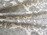 7 yards Grey Batik Linen Fabric / Grey Linen Upholstery / Drapery Fabric / Woven Grey Cream Fabric / Heavy weight Fabric / Gray Linen - Annabel Bleu