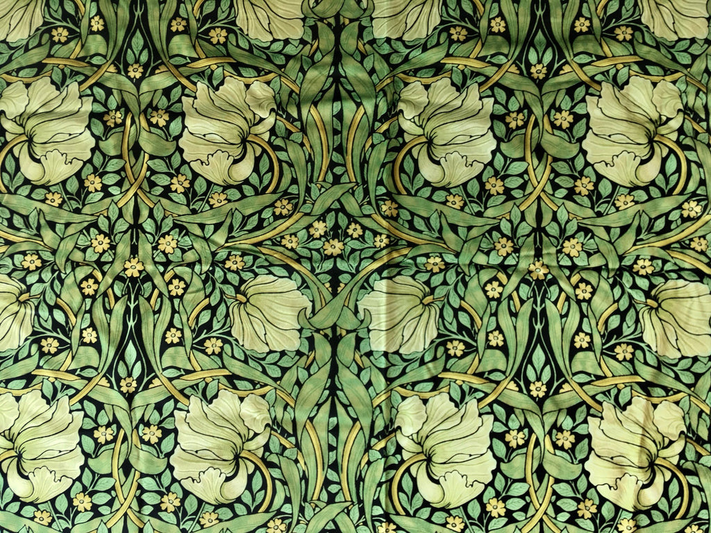 Velvet William Morris Pimpernel Upholstery Fabric By The Yard