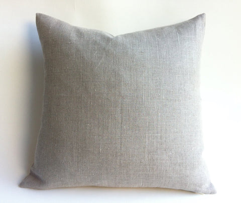 Greige Linen Pillow Cover / Oatmeal Linen / Greige Pillow Case / Flax Linen Pillow Case / King Linen Sham / Standard Pillow Case - Annabel Bleu