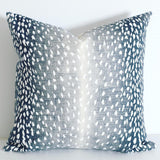FAWN: Ombre Animal Print Pillow Cover / Fawn Pillow Cover / Tone on tone Pillow Case / Zippered Pillow - Annabel Bleu