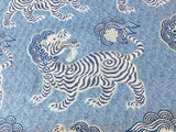 Tibet Woven Jacquard Upholstery Fabric by the yard / Chinoiserie Home Decor Fabric / Clarence House Upholstery Fabric - Annabel Bleu