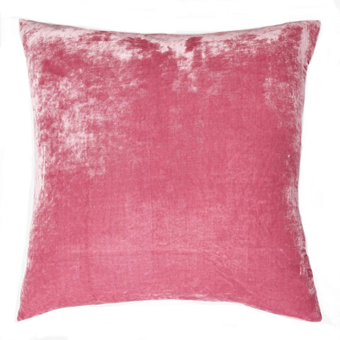 Silk Velvet Pillow Cover / Pink Pillow Cover / Solid Pink pillow case / Light Pink Pillow / Pink Silk Pillow Cover / Pink Cushion Cover - Annabel Bleu