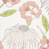 "Schumacher Fabric by the yard / 54"" wide Fabric / Light Yellow fabric by the yard / Home Decor Fabric / Pink Schumacher Fabric - Annabel Bleu"