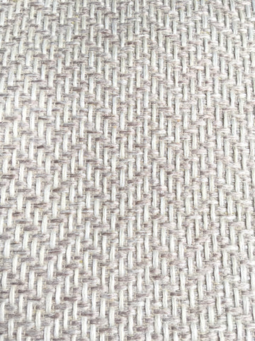 7 yards Sugar Blush upholstery fabric / Blush White Grasscloth / Woven Blush Fabric / Heavy weight Upholstery material - Annabel Bleu