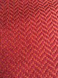 7 yards Red Orange upholstery fabric / Blood Orange Grasscloth / Woven Orange Fabric / Heavy weight Upholstery material - Annabel Bleu