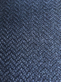 7 yards Navy upholstery fabric / Midnight Blue Grasscloth / Woven Blue Fabric / Heavy weight Upholstery material - Annabel Bleu
