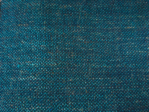 7 yards Dark Teal upholstery fabric / Teal Linen / Woven Turquoise Fabric / Heavy weight Upholstery material - Annabel Bleu