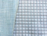 Grasscloth upholstery fabric by the yard / Sisal Fabric / Woven Watery Blue Fabric / Heavy weight Upholstery Grasscloth / Robin's Egg Blue - Annabel Bleu