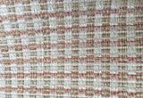 7 yards Coral Upholstery Fabric / Grasscloth Upholstery / Sisal Fabric / Woven Coral Fabric / Heavy weight Fabric / Coral Grasscloth - Annabel Bleu