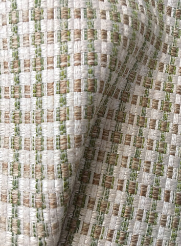 7 yards Green Upholstery Fabric / Green Grasscloth / Sisal Fabric / Woven Green Fabric / Heavy weight Fabric / Matcha - Annabel Bleu