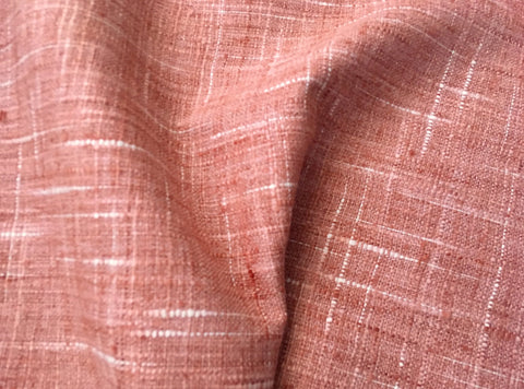 7 yards Coral Linen by the yard / Coral Upholstery / Red Linen Fabric / Woven Coral Fabric / Heavy weight Fabric / Coral Linen - Annabel Bleu