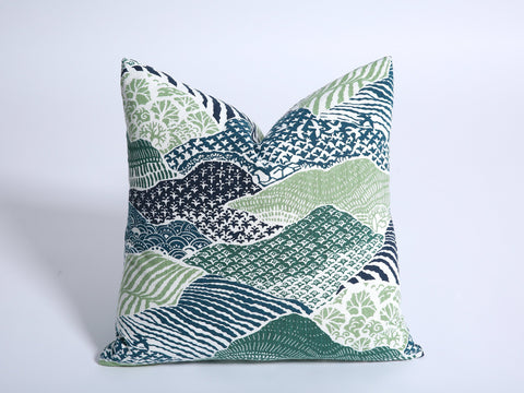 Green Teal Pillow Cover / 16x24 Green Pillow Cover / 12x21 Dark Teal Pillow / Navy Green 24x24 / 26x26 blue green pillow case - Annabel Bleu