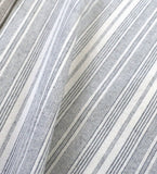 Grey Cream Stitched Fabric by the yard / Home Decor Fabric / Ticking  Upholstery Material / Grey Stripe Fabric / Light Upholstery Fabric - Annabel Bleu