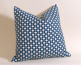 Betwixt Lumbar Pillow: Blue and Cream Pillow Cover / Schumacher Pillow / Schumacher Indigo Betwixt Pillow 12x18 12x21 14x36 16x24 - Annabel Bleu
