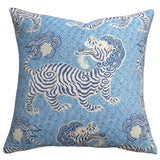 Tibet Woven Jacquard Pillow Cover / Chinoiserie Pillow cover / Clarence House Cushion Cover - Annabel Bleu