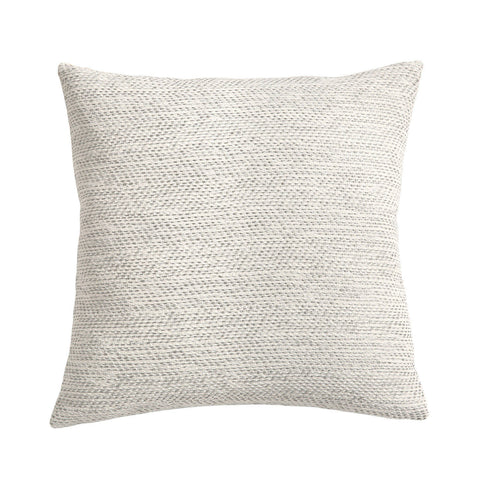 Woven White Pillow / Grey White Textured Pillow 12x18 12x21 16x24 16x16 18x18 20x20 22x22 24x24 26x26 14x36 Cushion Cover - Annabel Bleu