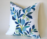 "Citrus Garden ""Pool"" Decorative Pillow Cover / Schumacher Josef Frank pillow cover / Citrus Garden 20x20 22x22 24x24 26x26 Schumacher Pillow - Annabel Bleu"
