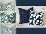 Santa Cruz Collection: Boho Outdoor Pillow / Green Batik Pillow / Bohemian Outdoor Pillow / Boho Home Decor / Green Bohemian Pillow Cover - Annabel Bleu