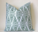 Santa Cruz Collection: Tropical Pillow Covers / Palm Leaf Pillow Covers / Boho Outdoor Pillow Covers / Banana Leaf Pillow Cover - Annabel Bleu