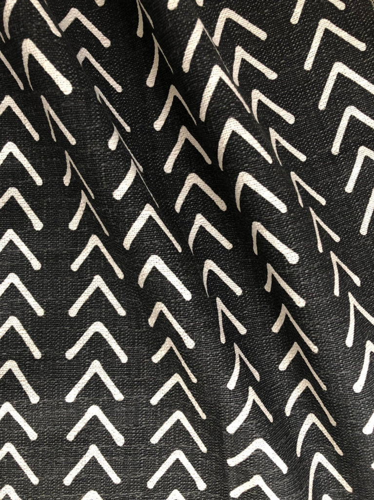 Mudcloth Upholstery Fabric By The Yard Home Decor Fabric Black