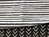 Upholstery Fabric by the yard / Black Striped Home Decor Fabric / Cotton Upholstery Fabric / Medium weight fabric / Mudcloth Fabric - Annabel Bleu