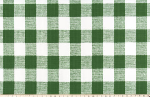 Outdoor Buffalo Check Upholstery Fabric / Indoor Outdoor Plaid Home Decor Fabric / Green Buffalo Check by the Yard - Annabel Bleu