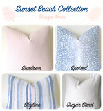 Sunset Beach Collection: Coordinated Pillow Covers in Blush, Cream, and Aqua 12x18 12x21 16x16 18x18 20x20 22x22 24x24 26x26 - Annabel Bleu