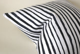 Drawn Stripe Pillow Cover / Black Ivory Stripe Pillow Cover / Black White 14x36 12x21 16x16 18x18 20x20 22x22 24x24 26x26 Zipper Pillow Case - Annabel Bleu