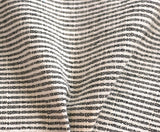 Black Hemp Hmong Fabric / Home Decor Fabric / Black Upholstery / Upholstery Ticking Stripe / Heavyweight Upholstery - Annabel Bleu