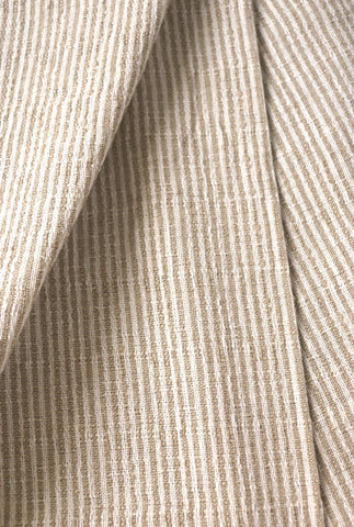 Beige Hemp Hmong Fabric / Home Decor Fabric / Beige Upholstery / Upholstery Ticking Stripe / Heavyweight Upholstery - Annabel Bleu