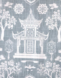 Light Blue White Pagoda Pillow Sham / Cushion Cover 20x20 24x24 26x26 / Nanjing Navy Chinoiserie Porcelain / Navy Chinese Pillow Case - Annabel Bleu