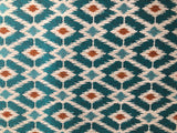 Teal Ikat Fabric / Turquoise Upholstery Fabric by the Yard / Ikat Home Decor Fabric / Turquoise Woven Upholstery / Ikat Upholstery - Annabel Bleu