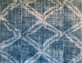 Mudcloth Style Fabric by the yard / Home Decor Fabric / Black or Blue Fabric / Home Decor fabric / Grey Black Mudcloth Fabric - Annabel Bleu